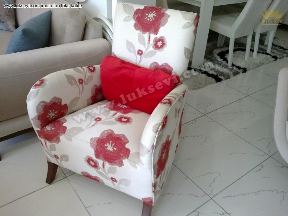 Damla Berjer Koltuk Çiçek Desenli Zengin Kumaş Renk Seçenekleri