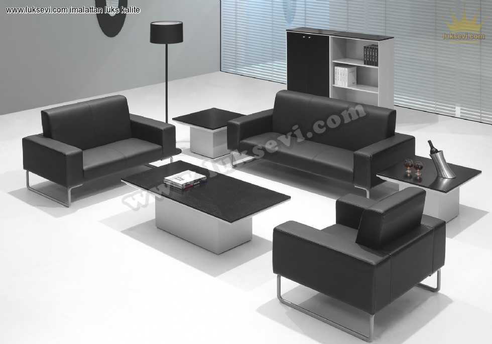 Deri Ofis Koltuk Takimi Luks Modern Ofis Koltuklari