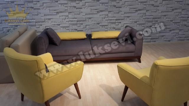 İki Berjerli Yataklı Kanepe Modern Lüks Tasarım