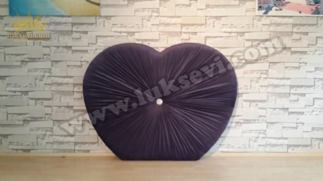 Kalp Şeklinde Yatak Baş Ucu Modeli Kadife Lüks Yatak Baş Ucu