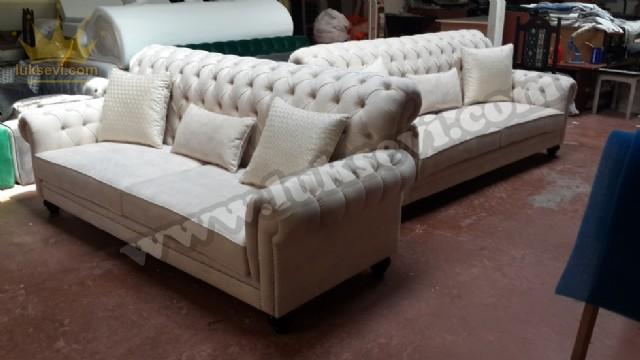 Lady Chester Koltuk Takımı Luxury Chesterfield Koltuk