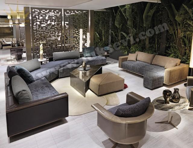 Lüks Modern Dekoratif Köşe Takımı Özel Tasarım Yaşam Odaları