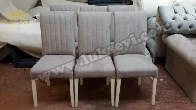 Modern Dilimli Sandalye Modeli Yemek Odası Sandalyeleri