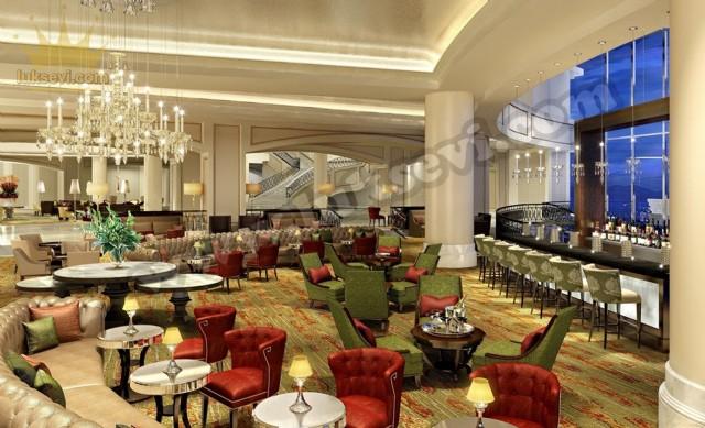 Otel Lobi Koltuk Takımları Sandalyeler Chester Koltuklar