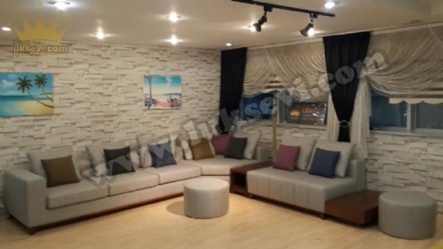 Winter Modern Salon Köşe Koltuk Takımı Sehpalı Modüler Lüks