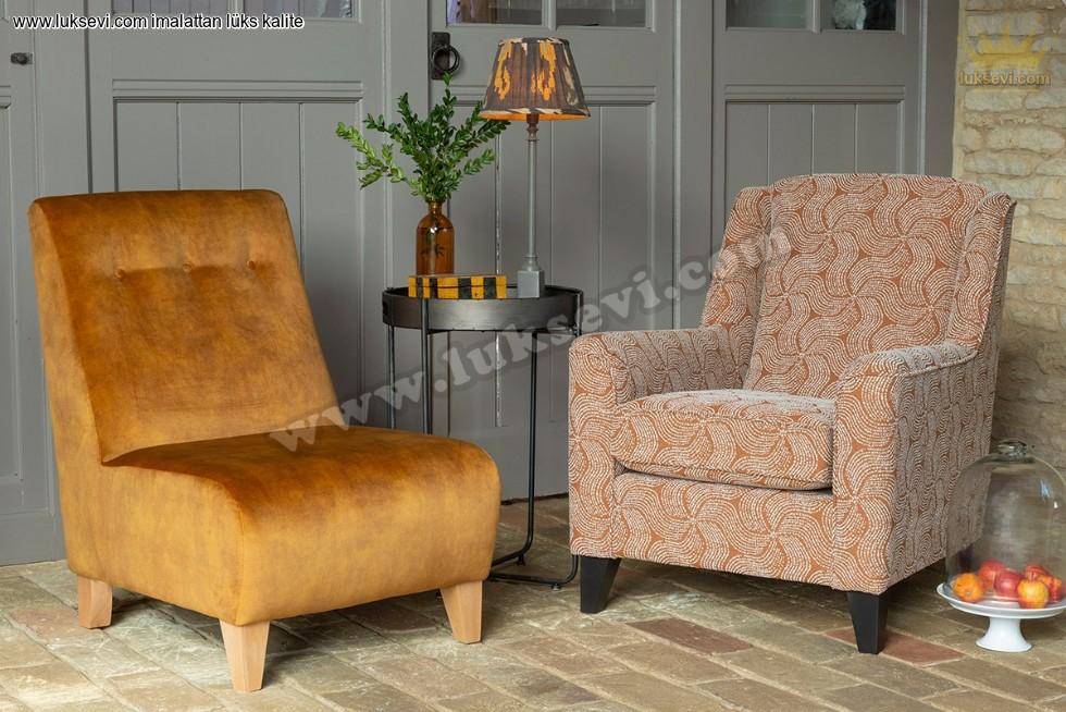 Resim No:6777 - Armless Small Accent Chair Modern