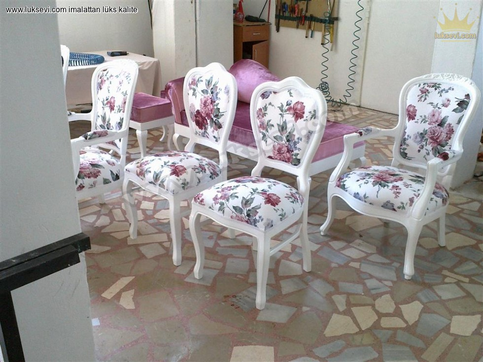 Resim No:6857 - Çiçekli Sandalye Modelleri