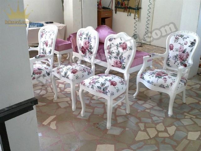 Çiçekli Sandalye Modelleri