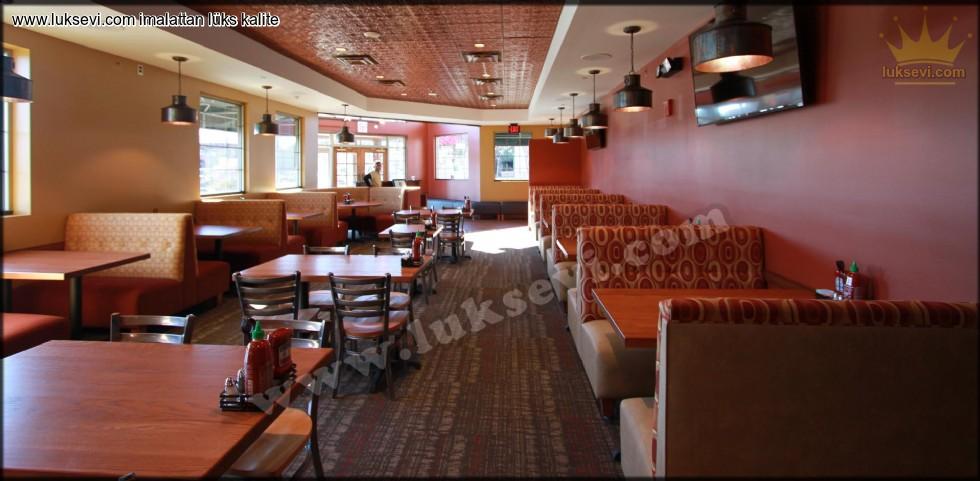 Resim No:6649 - Düz Hatlı Cafe Sedir Koltukları
