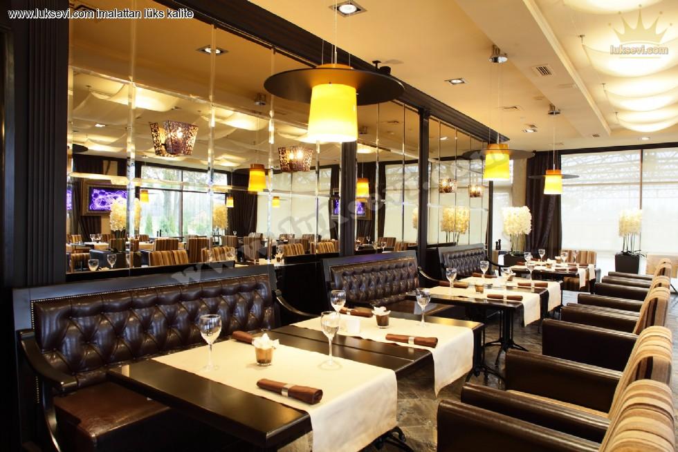 Resim No:7449 - Hakiki Deri Restoran Koltukları Masa Ve Sandalyeler