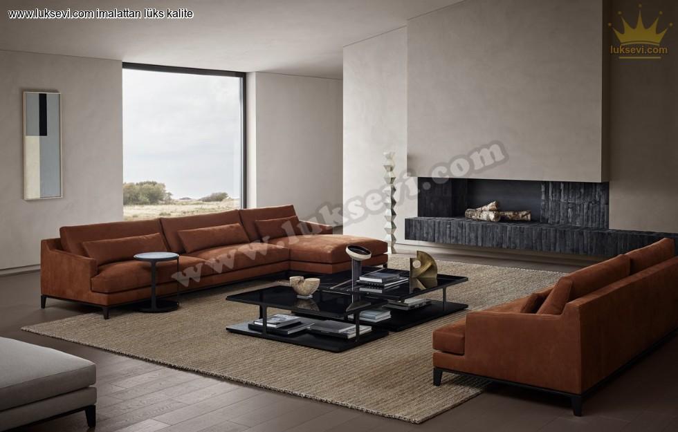 Resim No:1993 - Hamburg Modern Luxury Ecksofa Özel Üretim Köşe Koltuk Takımları