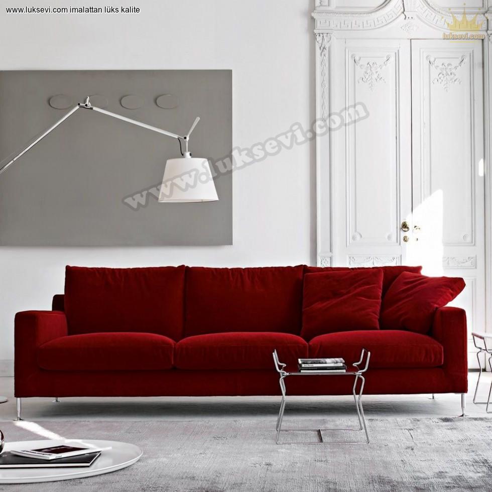 Resim No:6518 - Kırmızı Ofis Kanepesi