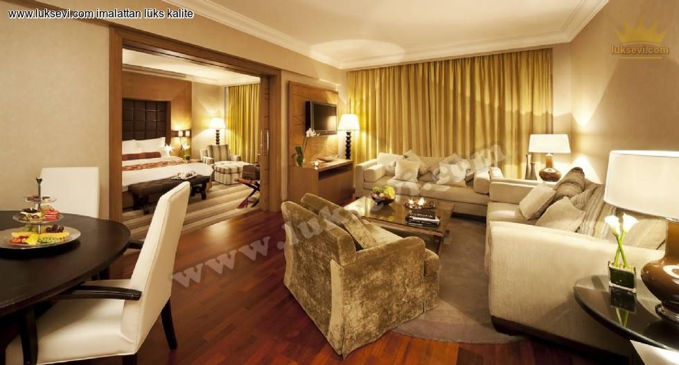 Resim No:6671 - Lüks Otel Oda Tasarımı Süit Oda Koltuk Takımları