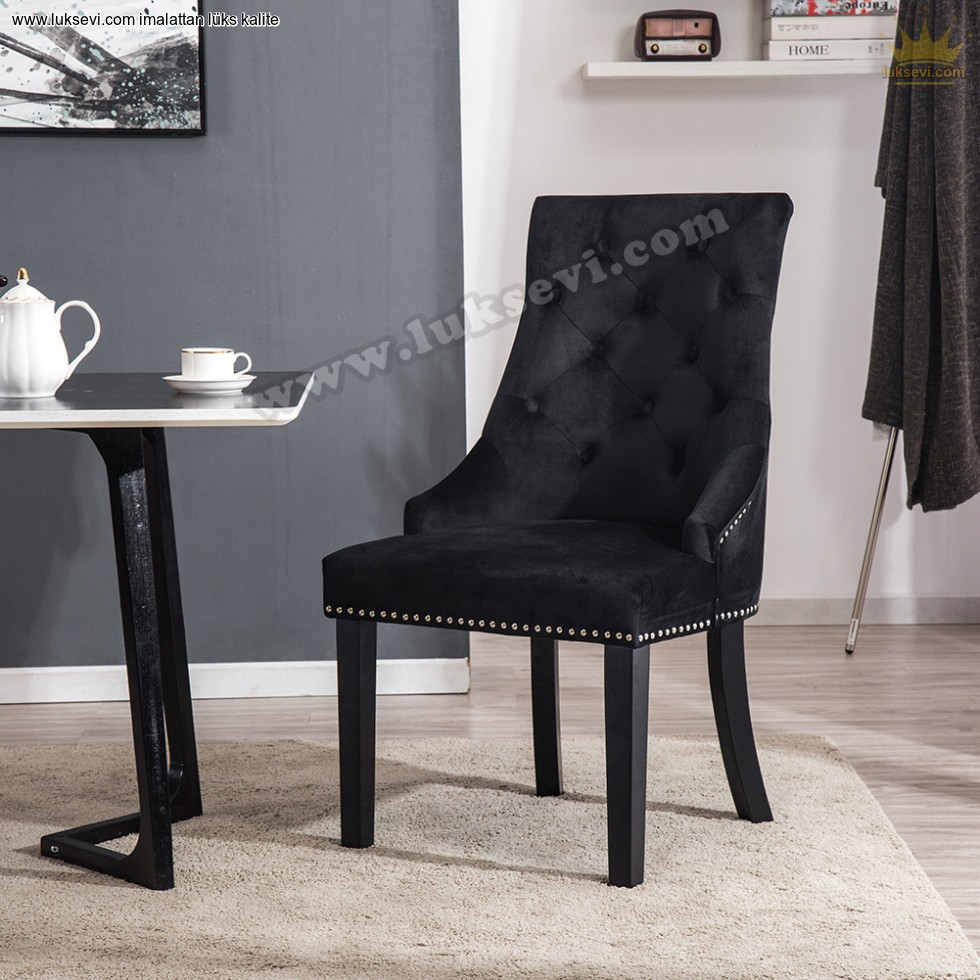 Resim No:6607 - Luxury Cafe Restoran Sandalye Kapitoneli Tasarım