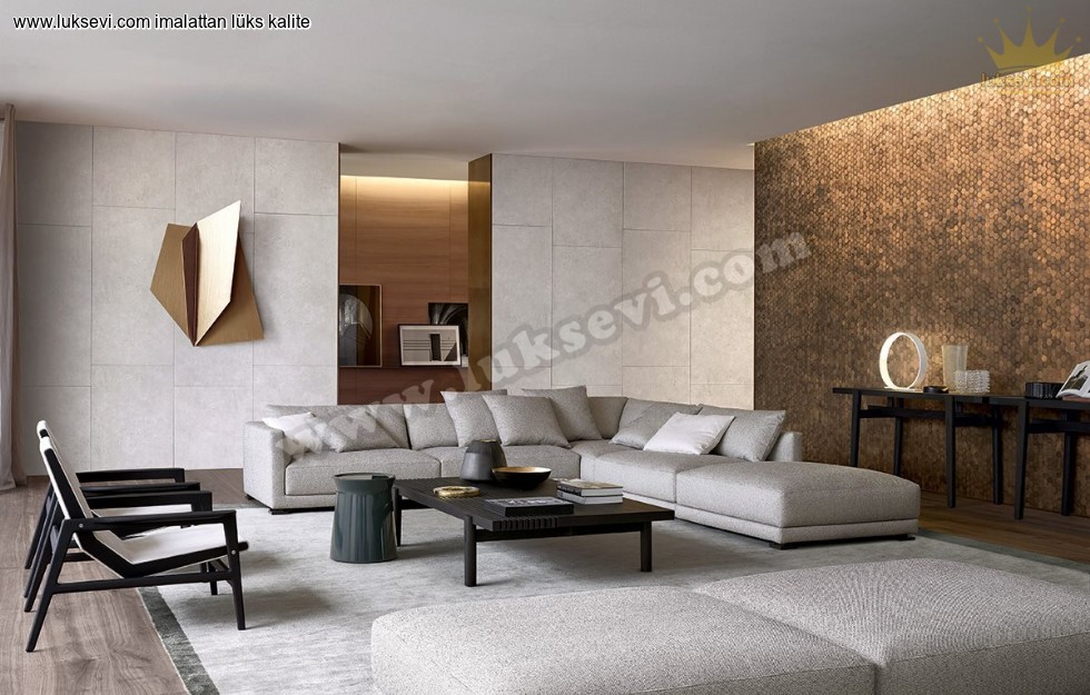 Resim No:1989 - Luxury Living Room Köşe Koltuk Takımları