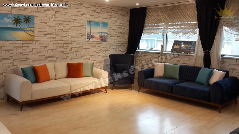 Resim No:7048 - Modern Lüks Oturma Odası Koltuk Takımı Modelleri