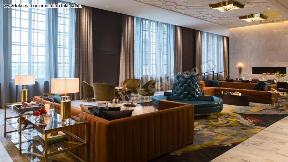 Resim No:6694 - Otel Lobisi Koltuk Modelleri Butik Tasarımlar