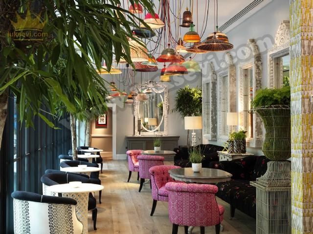 Otel Restoran Dekoratif Koltuklar