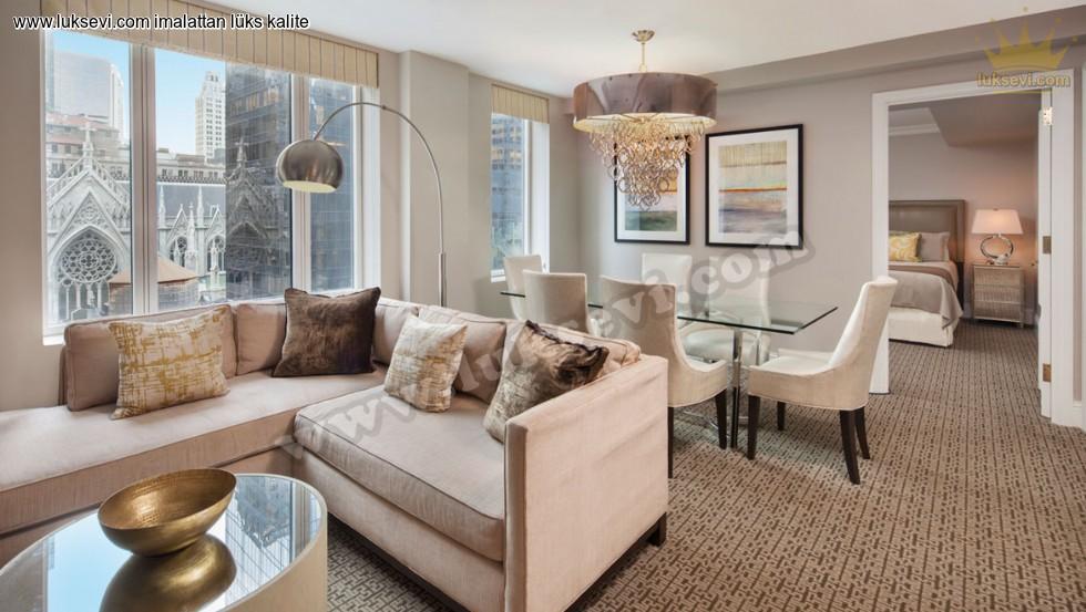 Resim No:6672 - Otel Süit Oda Tasarımı Köşe Takımı Masa Ve Sandalyeler