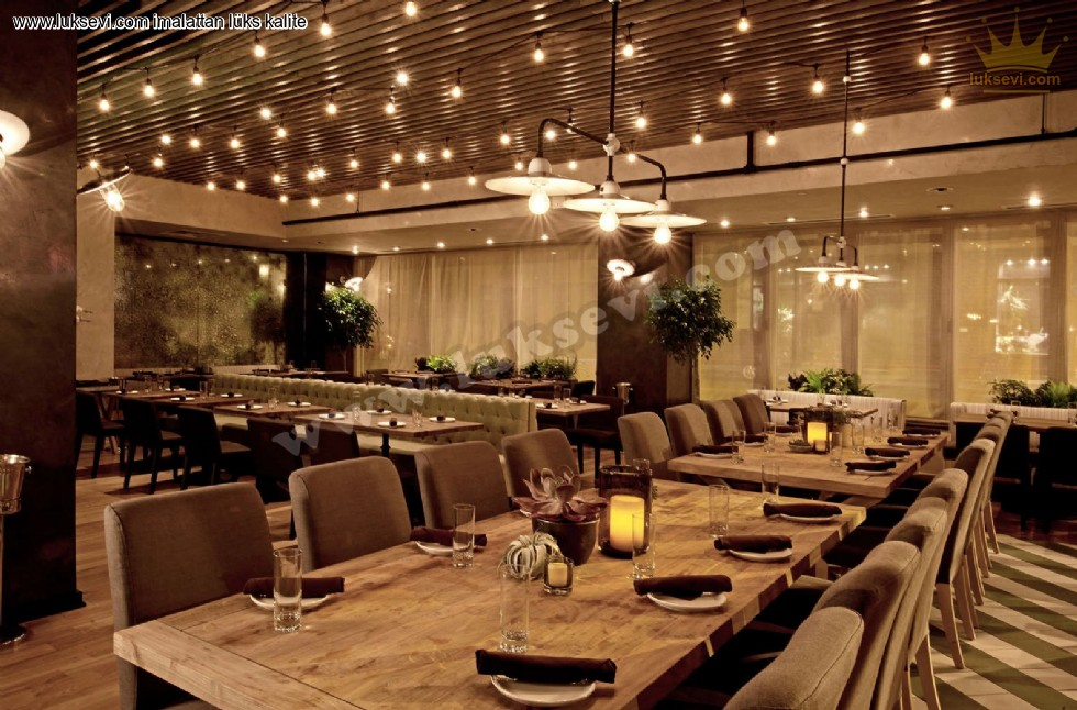 Resim No:7452 - Restoran Chester Sedirler Masa Ve Sandalyeler