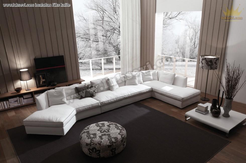 Resim No:7381 - Rezidans Modern Köşe Koltuk Takımı