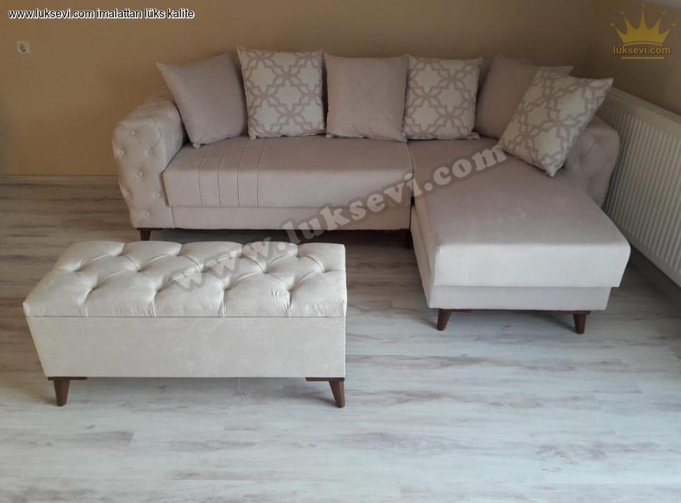 Resim No:5210 - Small Size L Koltuk Modern Luxury