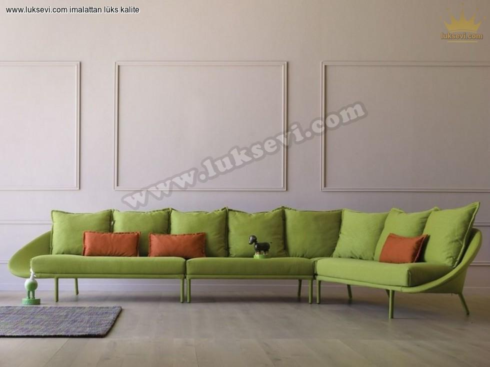 Resim No:1423 - Ultra Modern Köşe Takımı Fıstık Yeşili