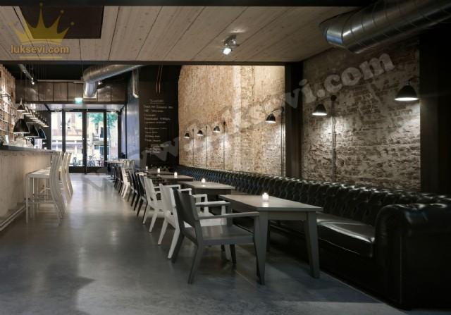 Cafe Uzun Chester Koltuk Sedir Masa Sandalye