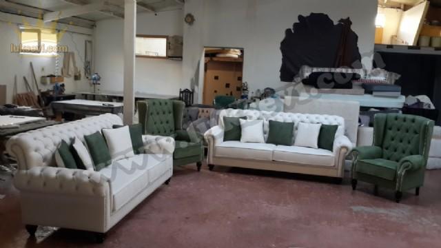 Chester Koltuk Takımı Klasik Özel Üretim