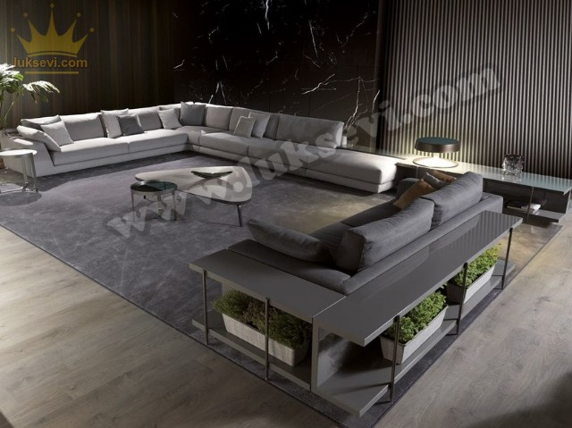 Evim Bahçem Modern Lüks Salon Köşe Koltuk Takımı
