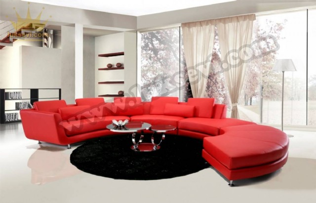 Kırmızı Yuvarlak Koltuk C Koltuk Modeli