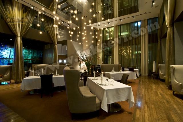 Lüks Restoran Koltukları Masa Ve Sandalyeler