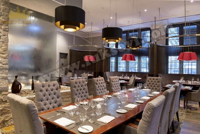 Lüks Restoran Tasarımı Masa Sandalye Modelleri