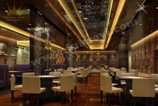 Modern Restoran Tasarımı Lüks Masa Sandalye Ve Sedir Koltuklar